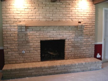 fireplace after limewash